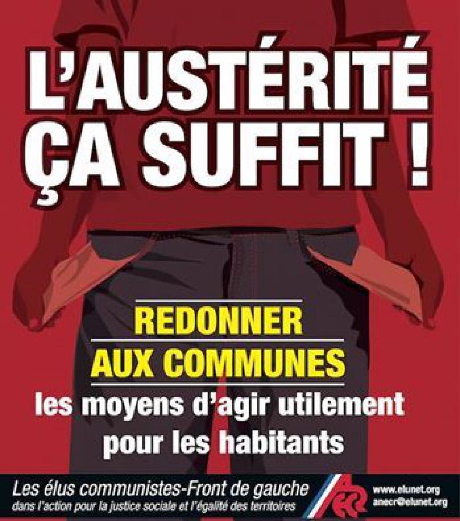 Les élus communistes/Front de Gauche actifs avec les maires de France, contre l'austérité imposées aux collectivités