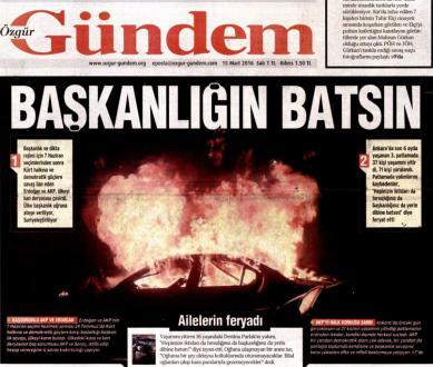 Interdiction du journal turc Özgür Gündem :